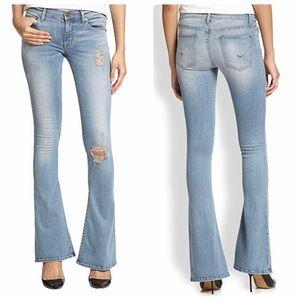 Hudson Angel Flare Skinny Light Wash Jeans Sz 25